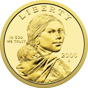 Randy'L He-dow Teton is a Shoshone woman who posed for the image of Sacagawea on the Sacagawea dollar coin, first issued in 2000. She's the only woman besides Martha Washington to appear on US currency, the only Native-American woman to pose for an American coin, and the only living person whose image appears on American currency.