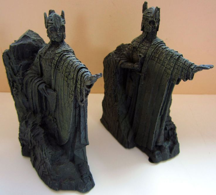 The lord of the rings gates of gondor argonath statue bookends sideshow weta to buy - Argonath bookends ...
