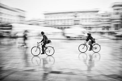 Lovely motion blur black and white shot for inspiration.
