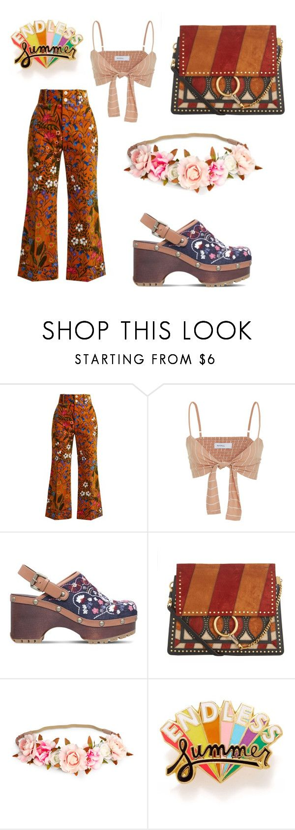 """""""Untitled #209"""" by denysa-boldog on Polyvore featuring Gucci, Faithfull, See by Chloé, Chloé and ban.do"""