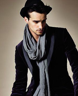 Bufanda y gorro para hombres