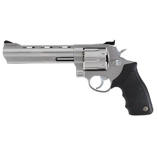 Taurus Model 44 Revolver .44 Magnum 6.5 Vent Rib Barrel 6 Rounds Black Ribber Grips Matte Stainless Steel Finish