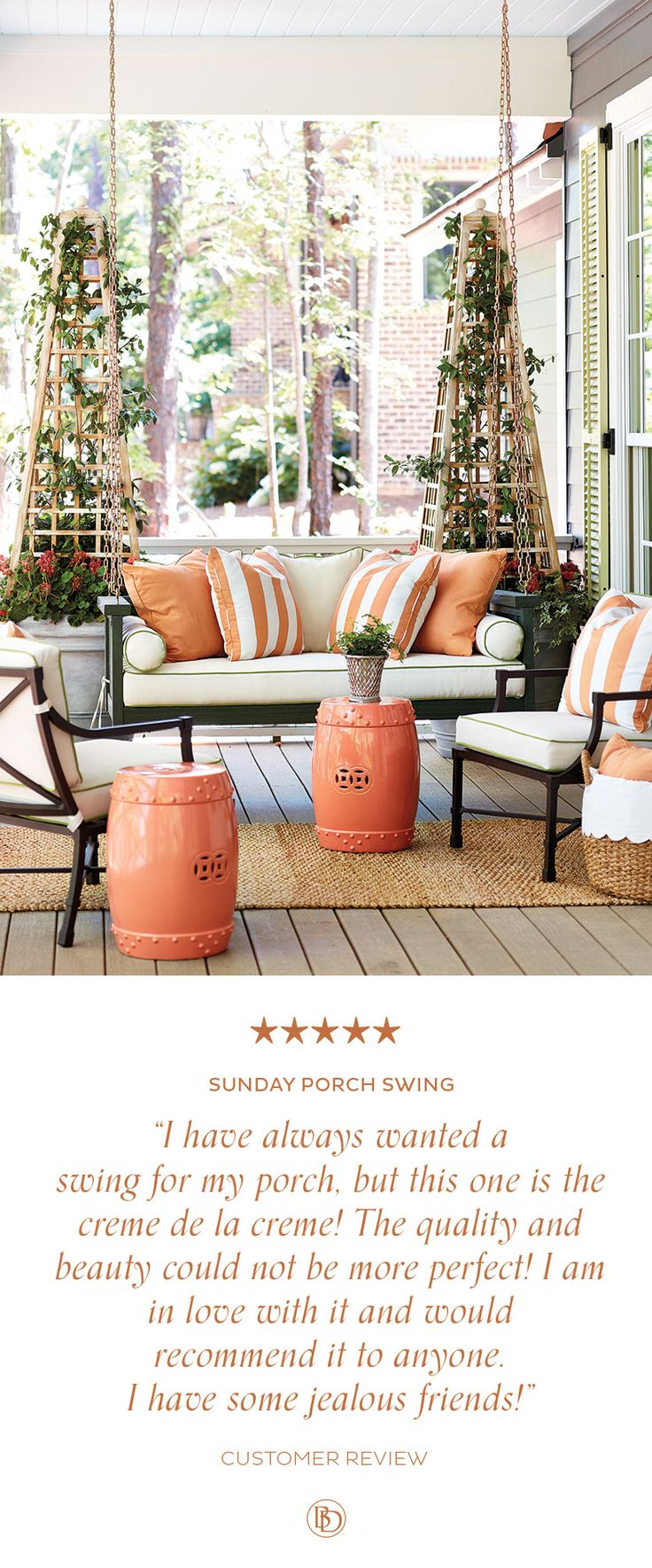 528 best outdoor decor images on pinterest outdoor ideas ballard designs sunday porch swing is the perfect addition to your relaxing outdoor space