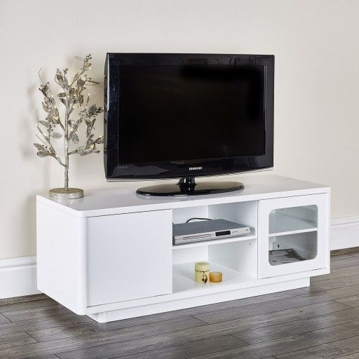 MODERN WHITE TV STAND ENTERTAINMENT UNIT Http://abreo.co.uk/ Part 59