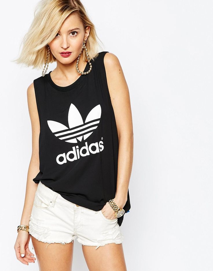 Image 1 - Adidas Originals - Adicolour - Débardeur moulant avec logo trèfle