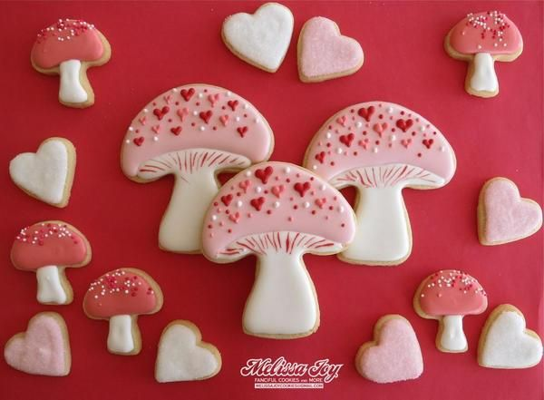 Valentine Mushrooms Another Way To Decorate Our Mushroom Cookie Cutter