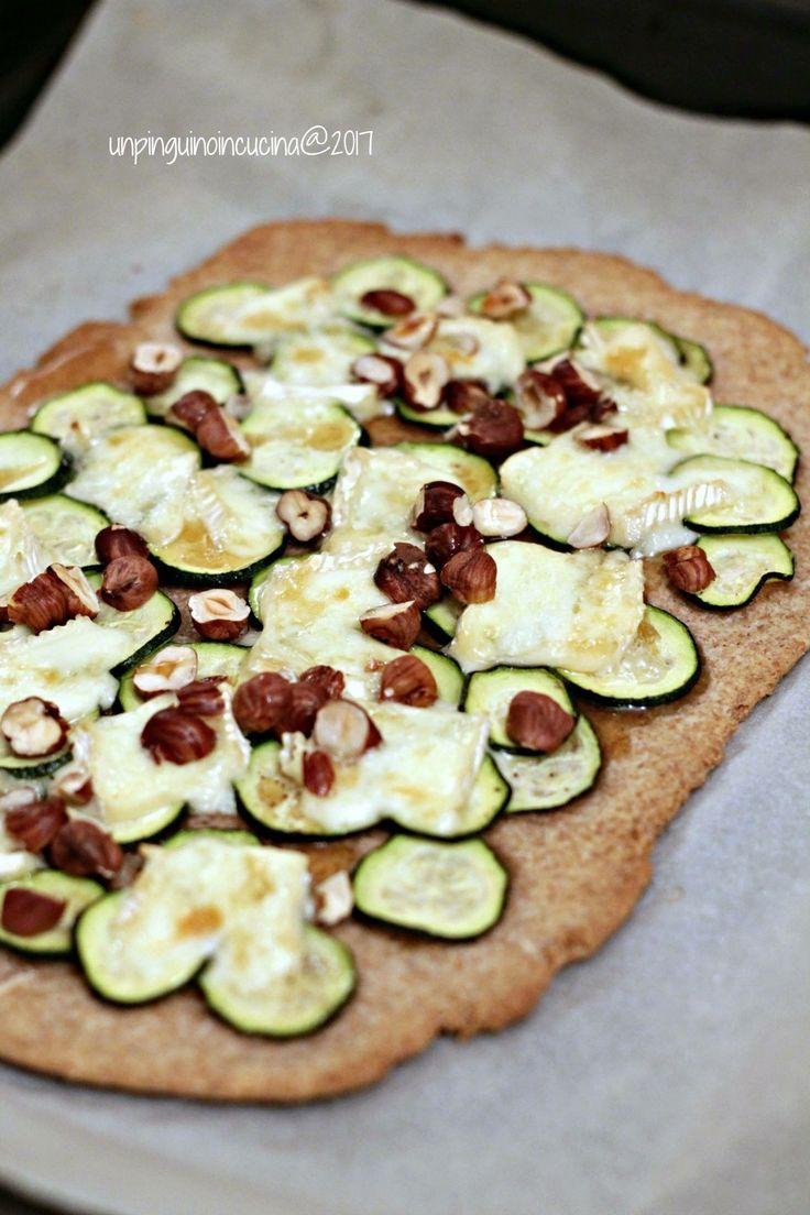 Zucchini Brie and Maple Wholewheat Flatbread - Schiacciata rustica con zucchine, brie e sciroppo d'acero   Un Pinguino in Cucina