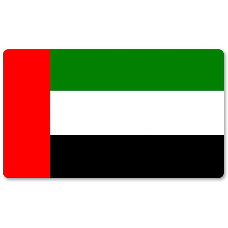 Country Flag Playmats - The United Arab Emirates - Board Game Mat Table Mat Mouse Mat Mouse Pad 60 x 35CM