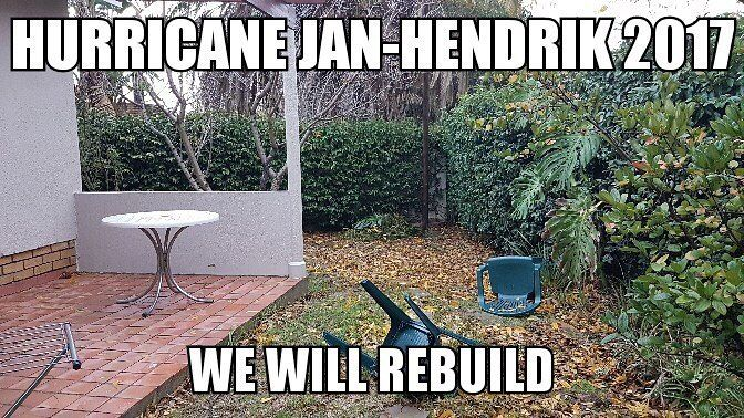 Raining pretty hard to declare a public holiday   #unitedweshallstand #workfromhome #capestorm #capetown  Classy Mr. @davidholtzhausen