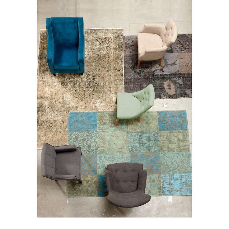 Moois voor op de vloer: patchwork vloerkleden! #kwantum #vloer #vloerkleed #vloerkleden #patchwork #woonkamer
