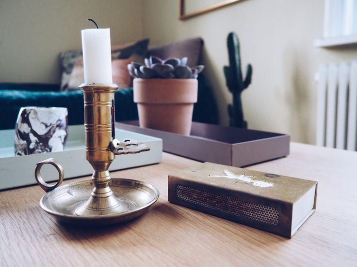 Candle light mässing brass cactus flowerpot flower candleholder tray