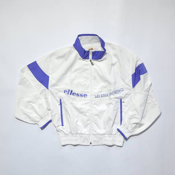 Vintage ELLESSE Jacket // ELLESSE LADIES // Ellesse Tennis // 90s Fashion Outfits // Retro Streetwear // Windbreaker // Oldschool // men // women // unisex // Rare Clothing Clothes Items // varsity// bomber// style // etsy