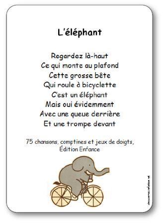 Chanson à gestes L'éléphant, comptine éléphant