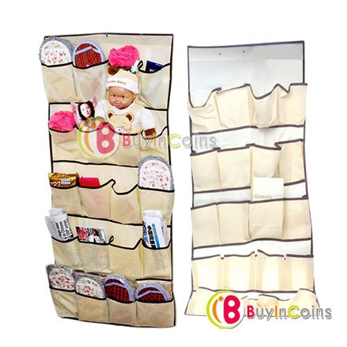 5.90 euro incl shipping 20 Pocket Hanging Bag Door Holder Shoe Storage Organizer Closet Hanger Organiser [26036|01|01]-in Home Storage & Organization from Home & Ga...