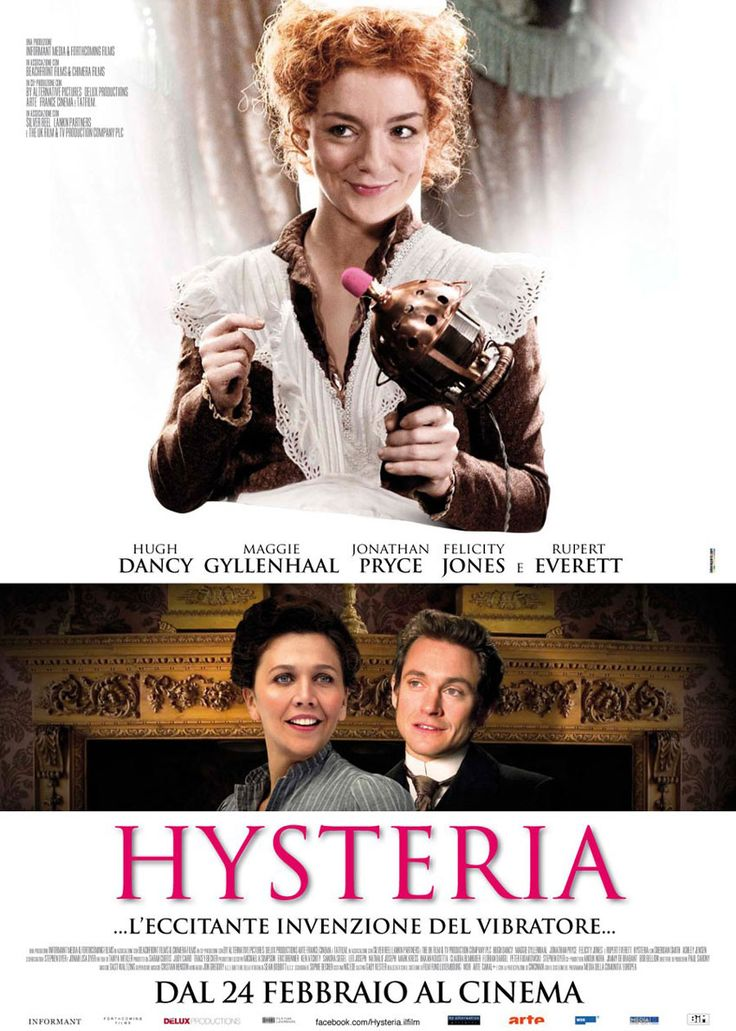 Hysteria , starring Maggie Gyllenhaal, Hugh Dancy, Jonathan Pryce, Felicity Jones. The truth of how Mortimer Granville devised the invention of the first vibrator in the name of medical science. #Comedy #Romance