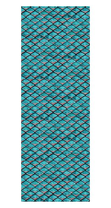 Teal blue and coral pink arapaima mermaid scales pattern Yoga Mat by @savousepate on Rageon! #yogamat #scales #mermaid #siren #dragon #fish #arapaima #reptile #reptilian #teal #turquoise #azure #aqua #aquamarine #amazonite #caribbean #blueandpink