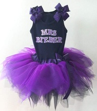 For Aubs lol--Justin Bieber tutu - perfect for Bieber Fever Dance Party!!