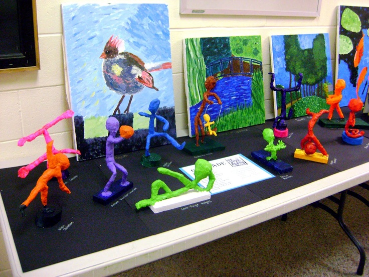 Stuck in the Mud Pottery: 6th Grade Keith Haring Sculptures