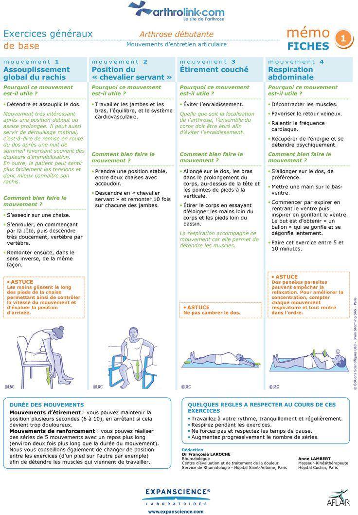 Consultez notre fiche d'exercices pour soulager votre arthrose débutante avec des mouvements d'entretien articulaire