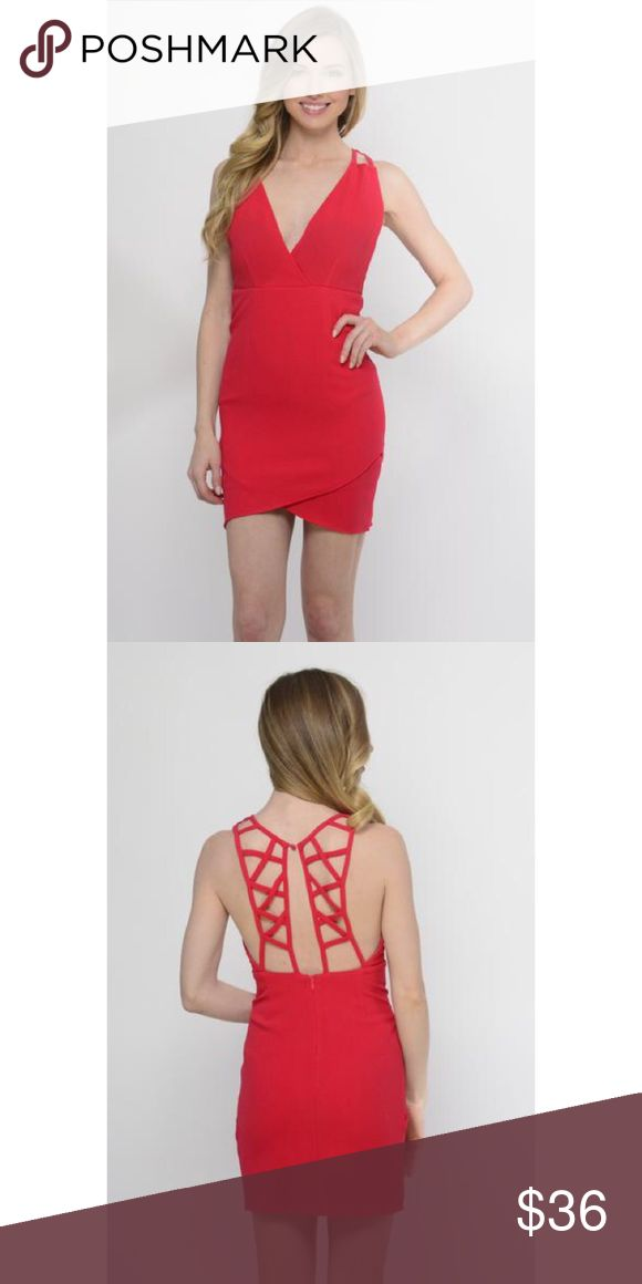 Velvet cake red night out dress Be the beauty in this hot red dress! This red bodycon dress with ladder detailing in the back can be worn to a party, club or other event where you want to look and feel beautiful!   Model is wearing a Size Small 95% Polyester 5% Spandex Dresses Mini