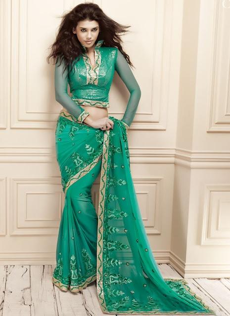 Brand a New Modern Design Splendid Saree | 2012 Sarees