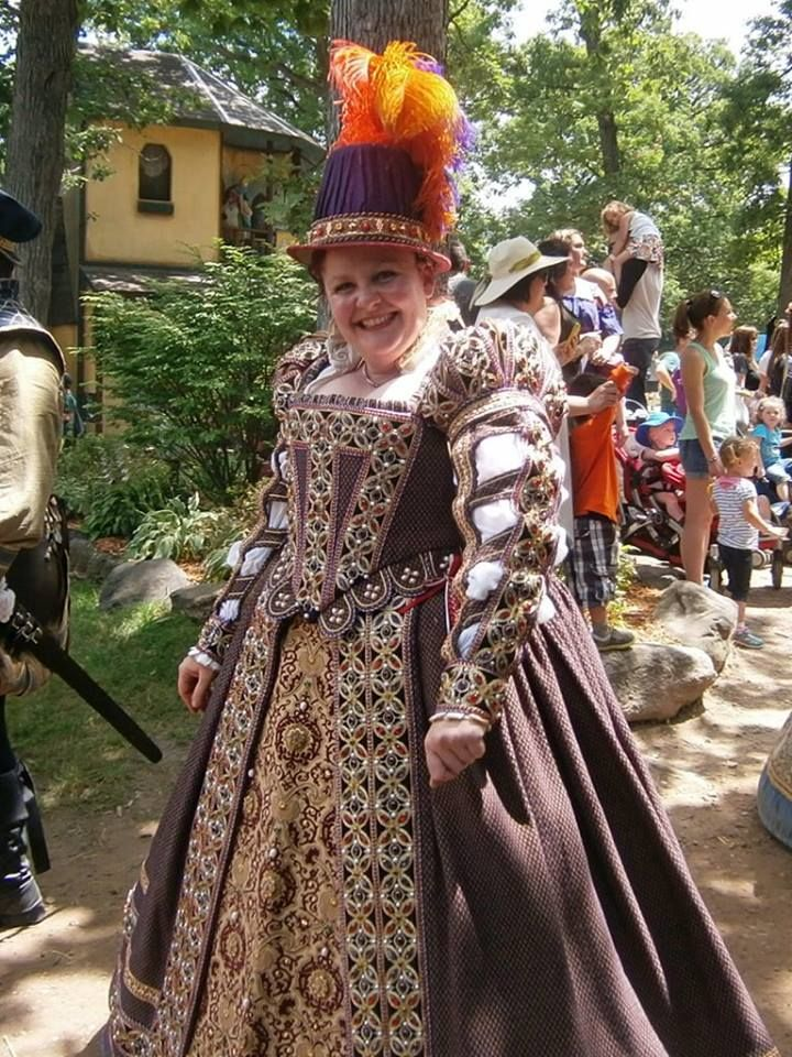 Queens Gown with Tall Hat made in 2015 for The Bristol