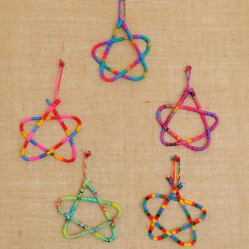 Star Wire Wrapped Christmas Ornaments by HandmadeByNehaBajaj