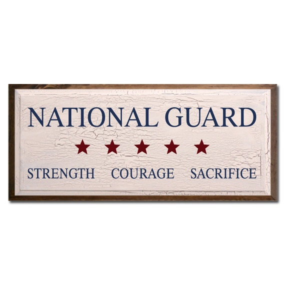 National Guard Strength Courage Sacrifice. $40.00, via Etsy.