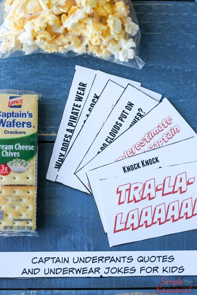 Add some outrageous fun to your child's day with these Captain Underpants Printable Lunchbox Notes! Silly jokes about underwear and quotes from the hero himself are sure to be a hit! Pop Secret | Lance Snacks | Walmart #Pop4Captain #Pmedia #ad