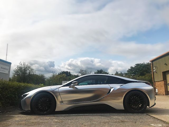 Bmw I8 Wrapped Satin Chrome Silver Stunning Finish Wrap