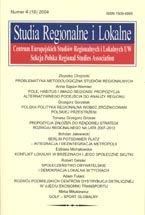 Wydawnictwo Naukowe Scholar :: :: 2004 STUDIA REGIONALNE I LOKALNE nr 4(18)