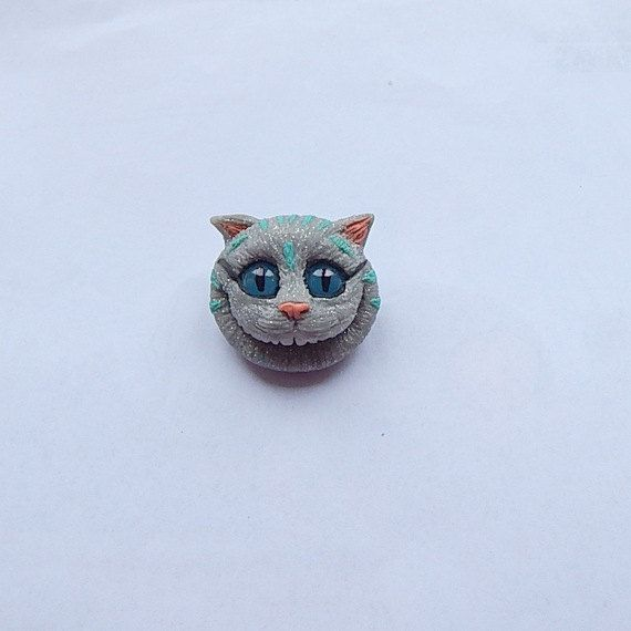 Alice in wonderland cheshire cat brooch cheshire by ViaLatteaArt