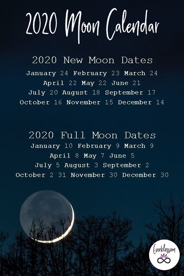 Here Are The Dates Of Every New Moon And Full Moon In 2020 New