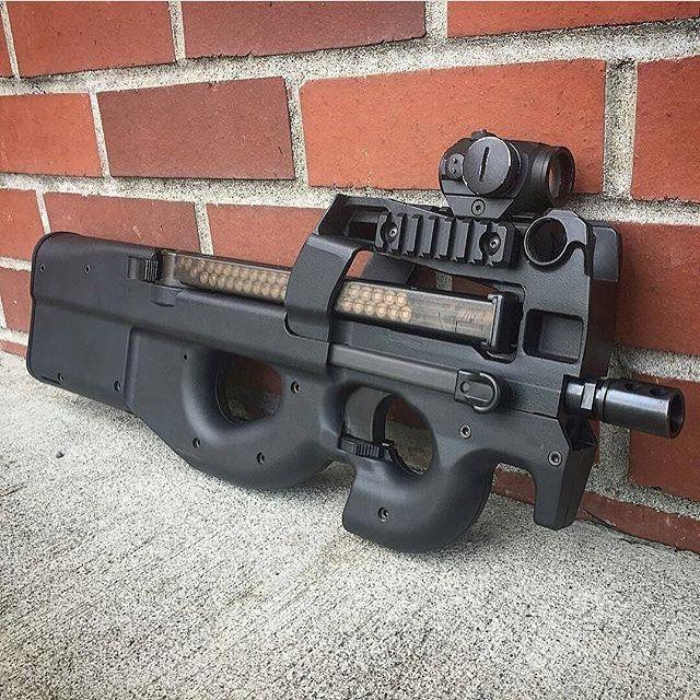Badass P90! ___ Via dirty6882bird Guns, Guns tactical