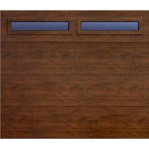 Martin Garage Doors, Wood Collection Summit 8 ft. x 7 ft. Flush Panel Walnut Woodgrain R8 Insulation Full View Clear Windows Garage Door, HDIY-000406 at The Home Depot - Tablet