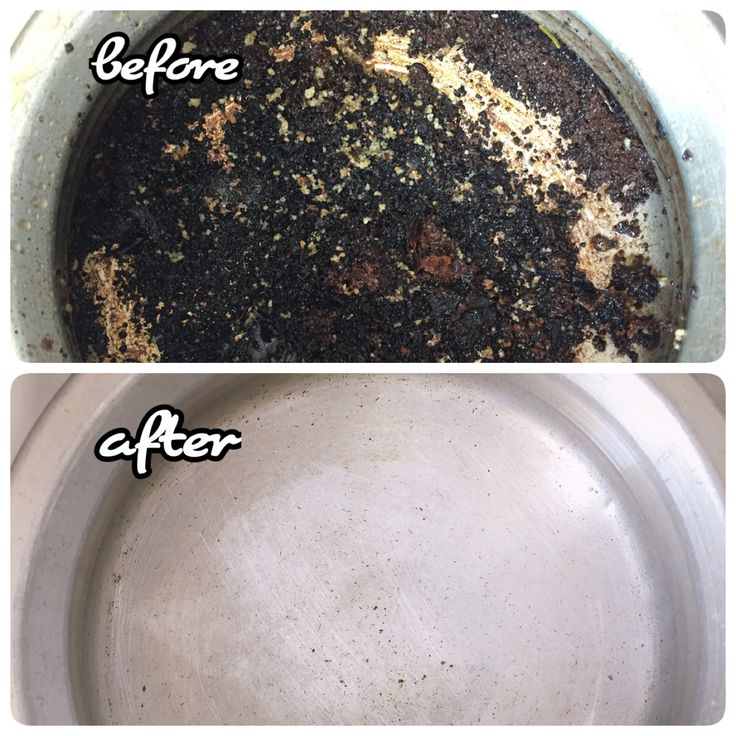 how to clean burnt on pot