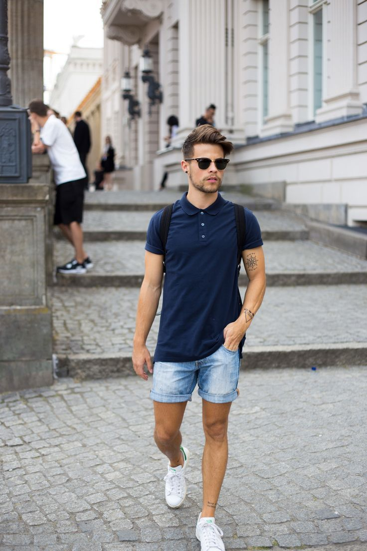 mens denim shorts pinterest
