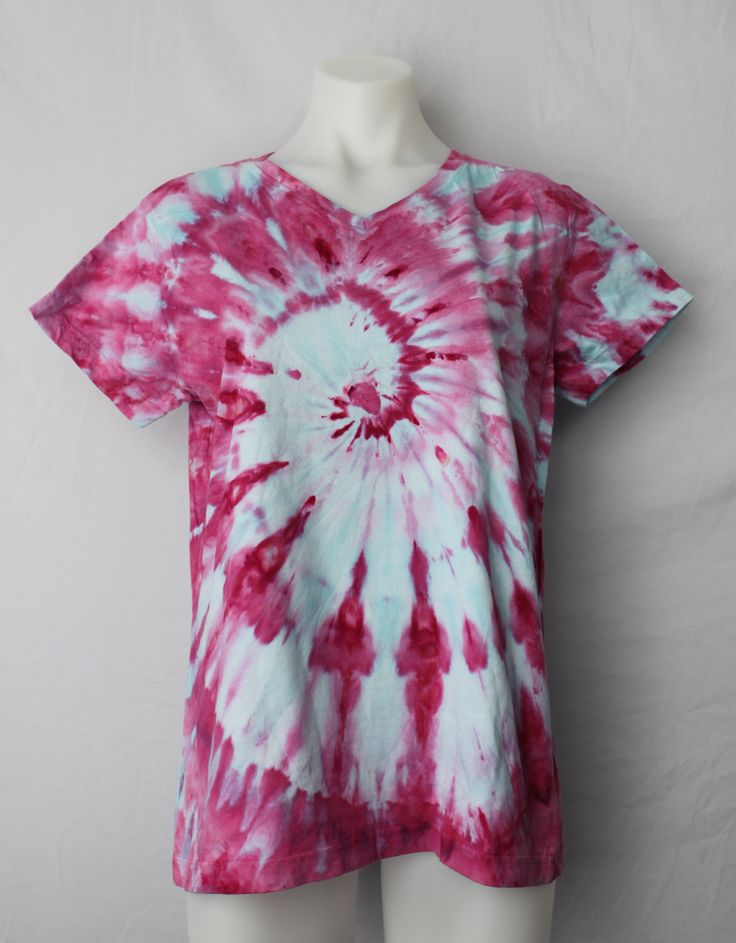 Ladies Large tie dye t shirt - Pretty in Pink twist by A Spoonful of Colors Find this item on https://aspoonfulofcolors.com