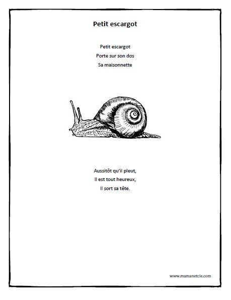 90 best chansons comptines images on pinterest french - Petit escargot porte sur son dos paroles ...