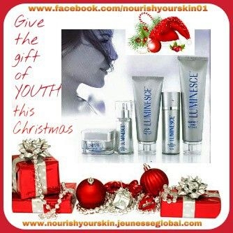 Perfect Christmas Gift Give the gift of YOUTH The only skin care range in the world to use Adult Stem Cell Technology to Renew & Rejuvenate your skin at a cellular level www.nourishyourskin.jeunesseglobal.com
