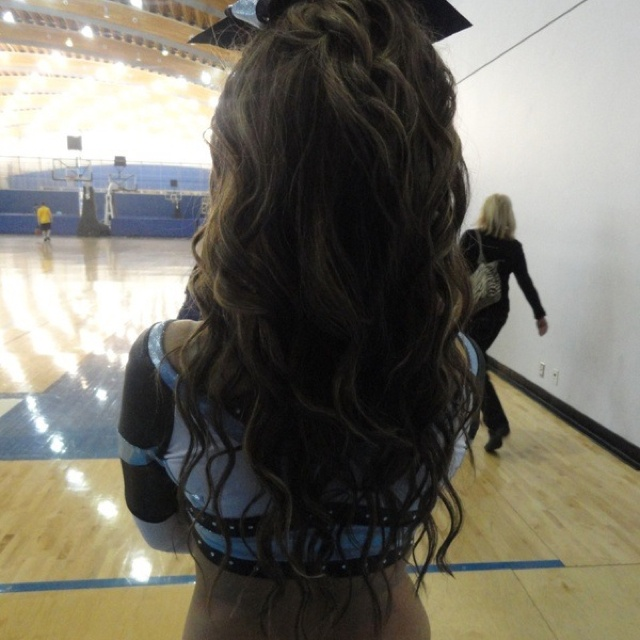 Cheerleader Hairstyles find this pin and more on hairstyles by ohsnap96 Hair For Cheer Comp