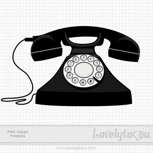 vintage telephone clipart - photo #11