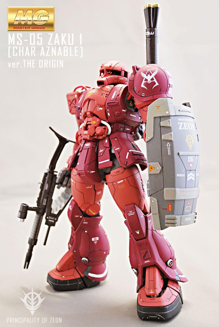 "Custom Build: ""MG"" 1/100 Char's Zaku I [Gundam The Origin ver.] - Gundam Kits Collection News and Reviews"