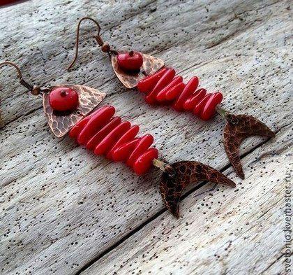 Серьги Рыбки. Handmade.