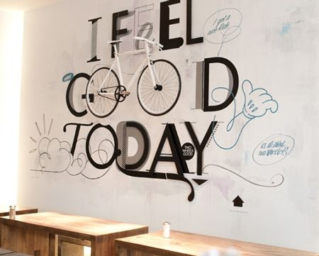 Great 3D wall graphics installation by Niels Buschke.  Designspiration — QBN - Pic of the day - DESIGN -  by: http://www.santiagodesign.de/arbeiten.html: Wall Art, Bicycles Style, Wall Decor, The Artists, Bike Shops, Feelings Good, Erst Liebe, Bicycles Art, Bike Art