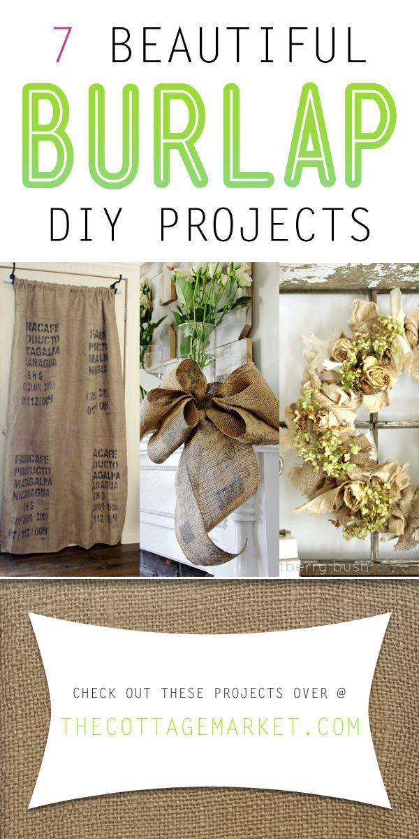 7 Beautiful Burlap DIY Projects - The Cottage Market