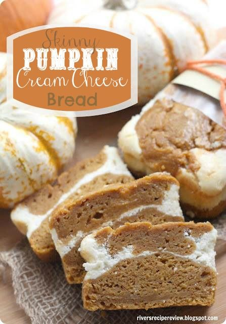 Skinny Pumpkin Cream Cheese bread at http://therecipecritic.com  This bread is so delicious and moist you will never guess that it is made with healthier ingredients! @Alyssa {The Recipe Critic}