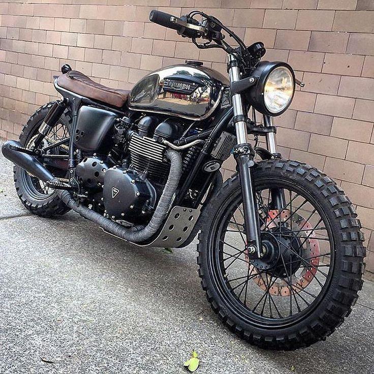 BikeBound — A shining #Triumph #scrambler by @soulmotorco.