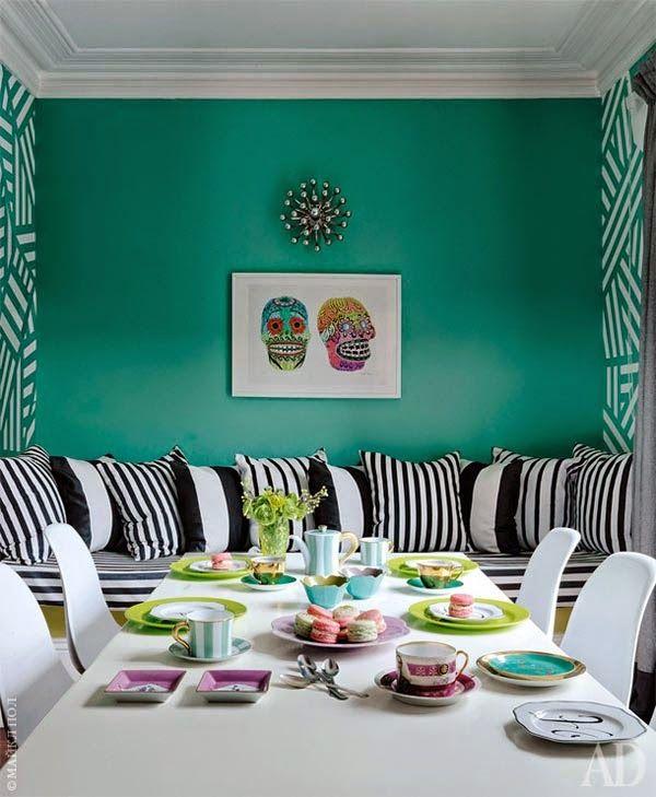 Una casa perfecta, colorista y llena de vida en Londres · A perfect, cheerful