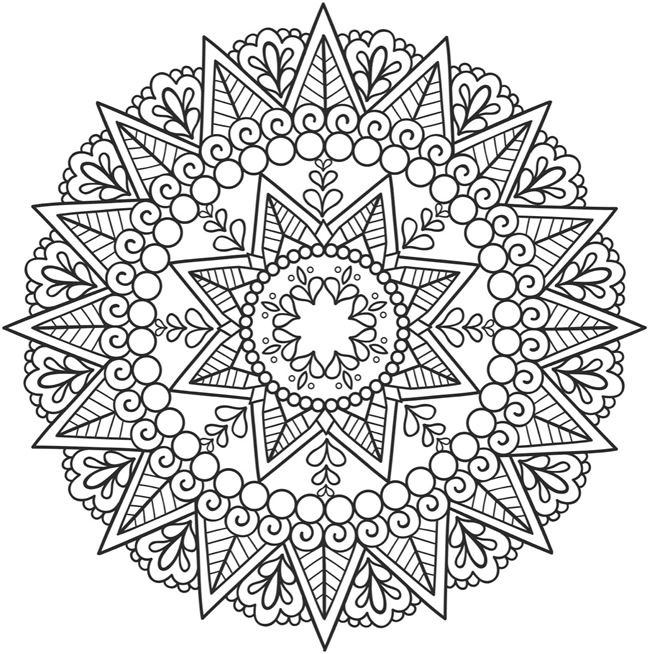 From the SPARK Mandala Coloring Book ~  Creative Havens, Dover Publications #doodle #pattern